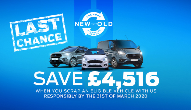 Ford Scrappage Scheme - SAVE £4000