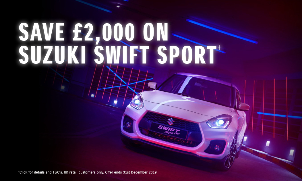 Suzuki Swift Sport form only £229 per month